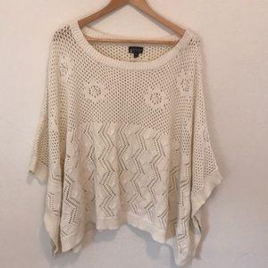Top shop new knit poncho